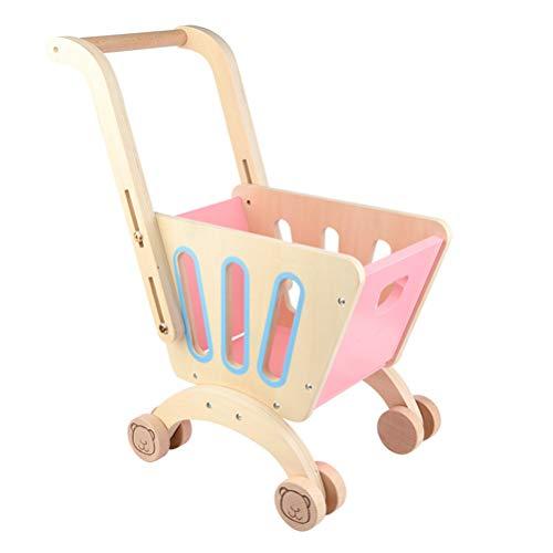 Carro de Compras Juguete, Carro de Compras para niños Juguete Simulación Carro de Compras Juguete Supermercado Trolley Mini Play House Toy