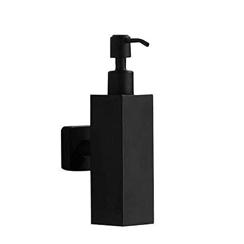 Dispensador de jabón para instalación en pared con elegante color negro