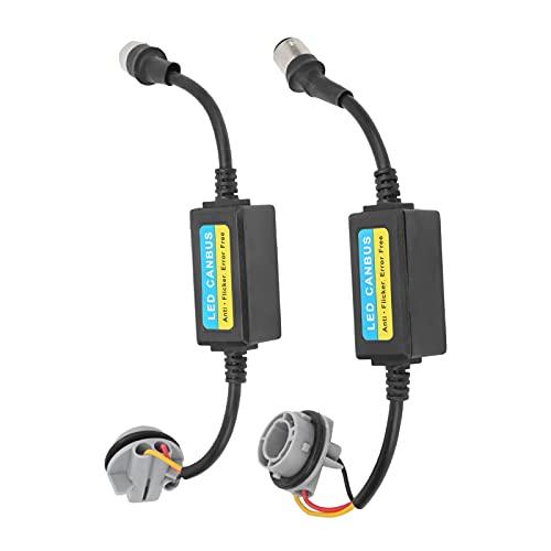 Decodificador LED, resistencia antiparpadeo 12-24 V Conveniente Fácil Profesional Durable para 1157 BAY15D, Bombillas P21 / 5W para convertir lámpara halógena en LED