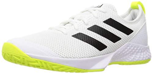 adidas Herren Court Control M Tennisschuhe, Mehrfarbig (Ftwbla Negas Amasol), 44 EU