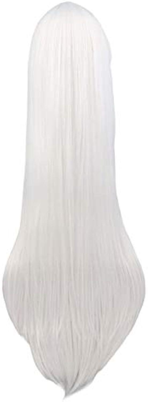 Perruque cosplay longue et droite Noir Violet Noir Rouge Rose Bleu Bcourir foncé 100 cm Perruques Cheveux Synthétiques 38 pouces Blanc