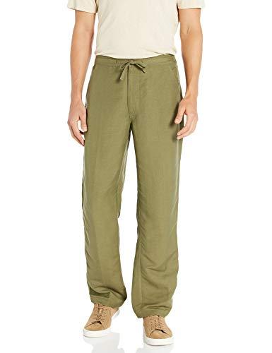 Cubavera Men's Drawstring Pant with Back Elastic Waistband Colors, Burnt Olive, X Large x 30L