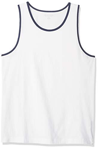 Amazon Essentials - Camiseta lisa sin mangas de corte entallado para hombre