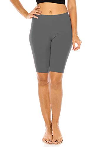FUNGO Leginsy damskie 1/2 sportowe spodnie do jogi f12 (38, Grafit)
