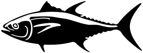 UYEDSR autoaufkleber 20.3X7.5CM Bluefin Tuna Fisch Vinyl Aufkleber Auto Fenster Autoaufkleber Tier Auto Zubehör-Black_2PCS