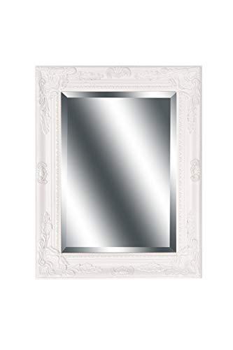 B.U.S. Wohnstyle Spiegel Wandspiegel Fiona weiß Barock 46,5 x 37 cm