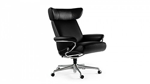 PRIMA Clever einrichten® Stressless Jazz Home Office (M) Schwarz Bürostuhl Chefsessel günstig