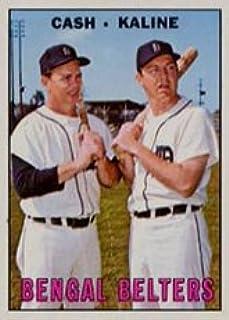 1967 Topps Regular (Baseball) Card# 216 Cash/Kaline of the Detroit Tigers VGX Condition