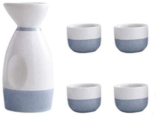 Juego de tazas de sake japonesas, diseño tradicional pintado a mano, porcelana cerámica copas de vino de cerámica - A05