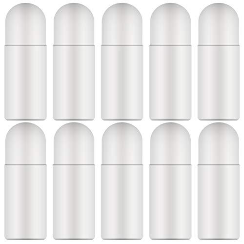 20 botellas vacías rellenables enrollables de plástico, 50 ml, a prueba de fugas, recargables, desodorantes, antitranspirantes