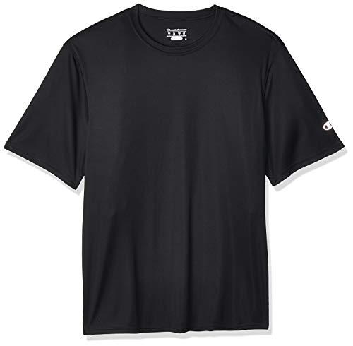 Champion Men's Short Sleeve Double Dry Performance T-shirt Shirt, Black, Large US