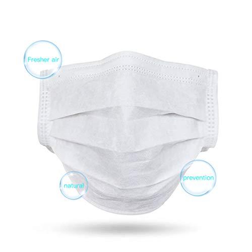 Masken 20 Stück Einweg OP-Maske Mundschutz Staubschutz Infektionsschutz Schutzmaske Atemschutzmaske Weiß-201 - 2