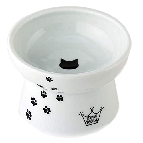 Necoichi Raised Cat Food Bowl, Stress Free, Backflow...