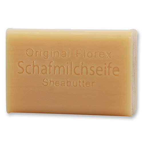 Florex Schafmilchseife -Sheabutter- sahnig süße Hautpflege mit duftenden Ölen 100 g