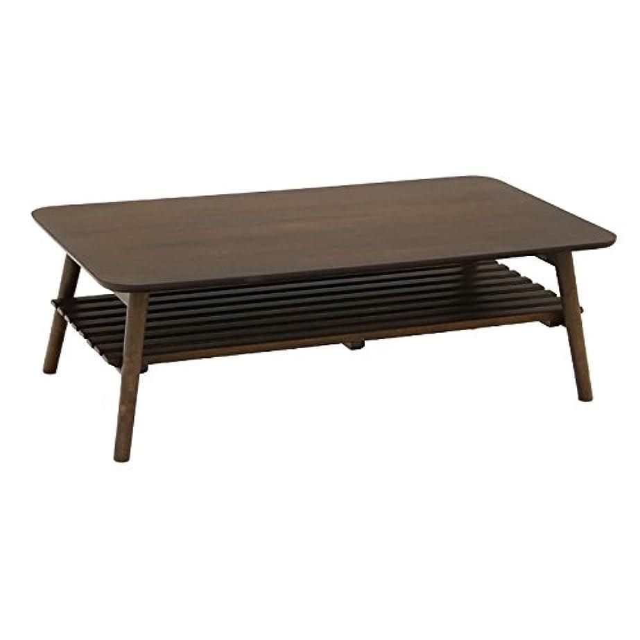 ビール実現可能アドバンテージヤマソロ 棚付折りたたみテーブル ローテーブル 机 110幅 ピノッキオ 82-614
