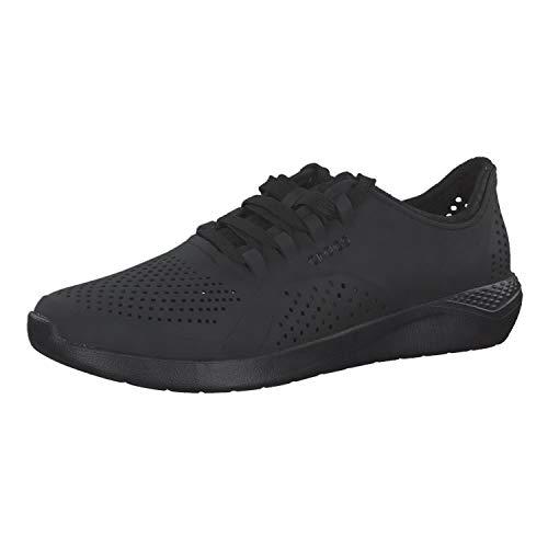 Crocs Herren Men's LiteRide Pacer Sneaker   Comfortable Tennis Shoes for Men Turnschuh, schwarz/schwarz, 37 EU