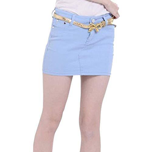 Rocke dames Casual Young Fashion zomerrok vrouwen rok denim Minirok Fashion Slim Ge enkel Pft voor en slank Candy kleur rok S L