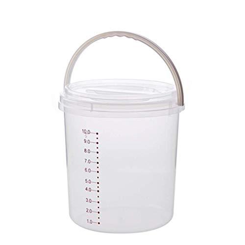 ZXL Opbergdoos voor muesli, huishuisreis, emmer 5 kg, 10 kg, vochtdichte rijst, cilinder, afdichting, rijst, opbergdoos voor keuken (grootte: klein)