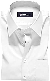 Men's Plus Size Super White Regular Fit Cotton Formal Shirt (3XL - 10XL)