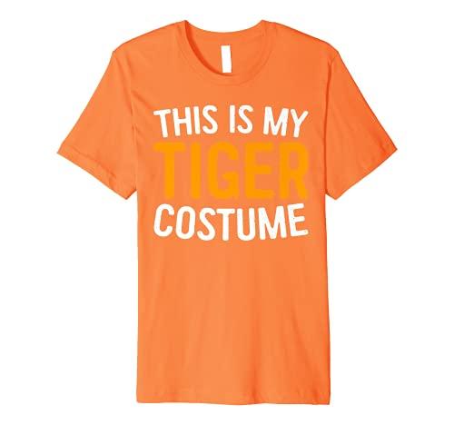 This Is My Tiger Costume T-Shirt Halloween Premium T-Shirt