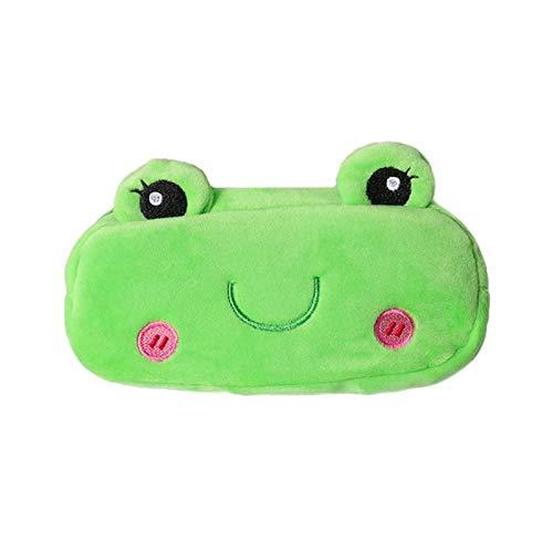 MSYOU Estuche de lápiz de dibujos animados de felpa Creative Animal Primary School Papelería Bolsa de monedero encantador bolsa de cosméticos para dama