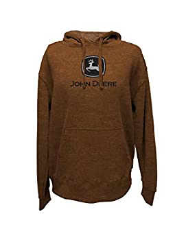 John Deere Men s Pumpkin Orange Pullover Hoodie  L