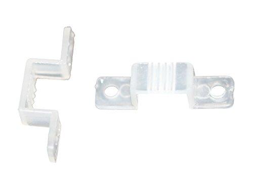 20 pcs Stk. Befestigungsclips Halter für led Strips 10mm 12mm 13mm 15mm 16mm Breit (13-16mm)