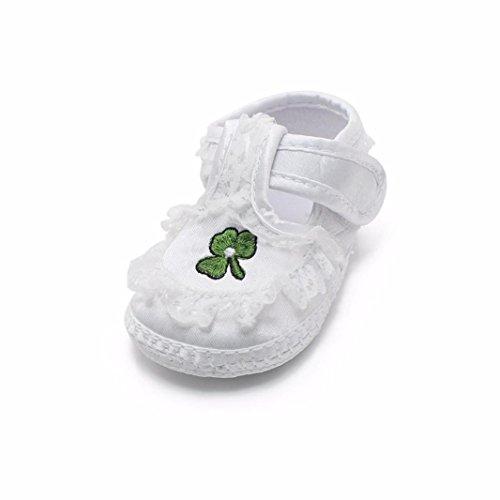 Ouneed® Krabbelschuhe, 3-12 Monate Neue Baby-weiße Prinzessin Anti Rutsch Neugeborene Baby Schuhe Freizeitschuhe (Länge: 10,5 cm, Weiß G)