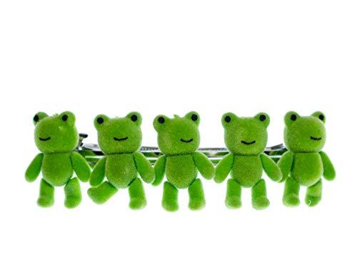 Frosch Haarspange Miniblings Haarklammer Frösche Flock Kröten Kinder grün