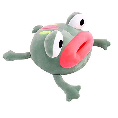 JOOBEE Big Eyes - Muñeca de rana de peluche súper suave y elástica, con labios rojos, almohada de felpa para sofá o dormitorio, decoración de fiesta, para adolescentes