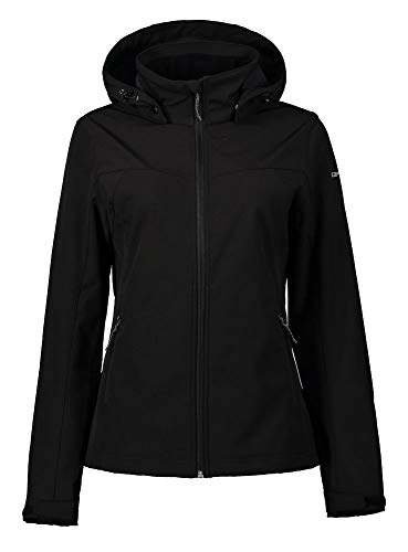 ICEPEAK Softshell-Jacke für Damen Brenham, schwarz, 38, 754970682IO