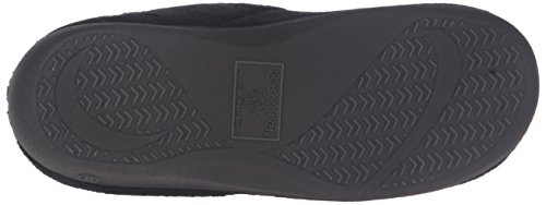 isotoner Women's Terry Slip In Clog, Memory Foam, Comfort and Arch Support, Indoor/Outdoor, Black, 6.5-7 M US