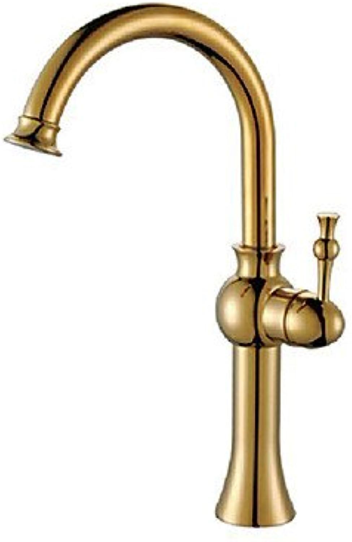 Miaoge Mono Basin Mixer Tap?–?Rustic Brass (Polished Brass)