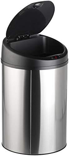 Sichler Haushaltsgeräte Mülleimer mit Sensor: Abfalleimer mit Hand-Bewegungssensor & Edelstahl-Korpus, 58 Liter (Mülleimer mit Bewegungssensor)