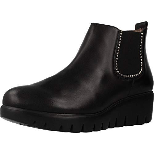 Wonders Damen Stiefelleten Boots C33173 Schwarz 38 EU