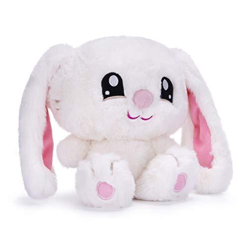 Posh Paws 37348 Moshi Sleepies Nodkins The Bedtime Bunny 8' Soft Toy (21cm), White