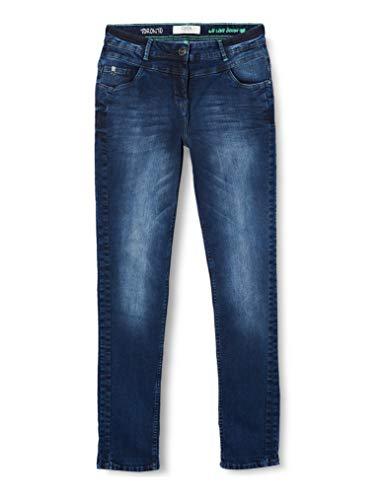 Cecil Damen Toronto Straight Jeans, Blau (Mid Blue Wash B372836), W28/L30