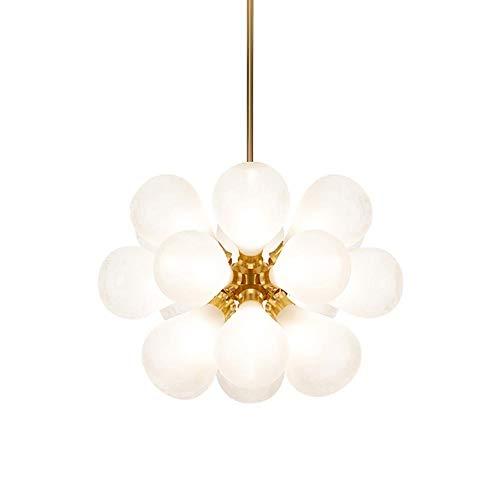 Modernen Pendelleuchte Sputnik Lüster Deckenlampe Nordic Glaskugel Blase Kronleuchter Zu Hallway Restaurant Wohnzimmer Hängeleuchte 18 Lichter Gold A 18 Lichter