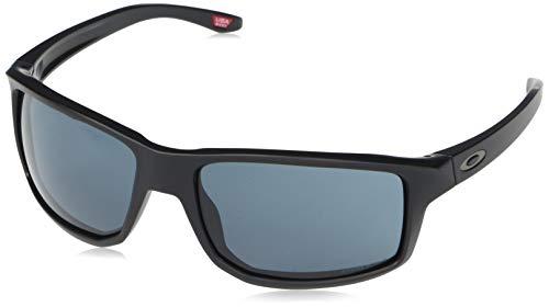 Oakley Men's OO9449 Gibston Square Sunglasses, Matte Black/Prizm Grey, 61 mm