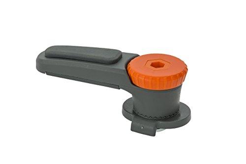 VAUDE Haifischzahn, QMR Rail Hook 2.0, QMR-Befestigungssystem 2.0, für VAUDE-Radtaschen, Gepäckträgerhalterung weiß Einheitsgröße