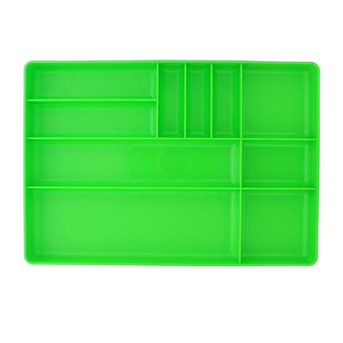 ABN Toolbox Drawer Organizer Tool Organizer Tool Tray – Tool Drawer Organizer Sorting Tray, 16x11x1.5in in Green