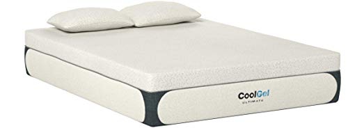 Classic Brands Cool Gel 1.0 Ultimate Gel Memory Foam 14-Inch Mattress with BONUS 2 Pillows, Queen