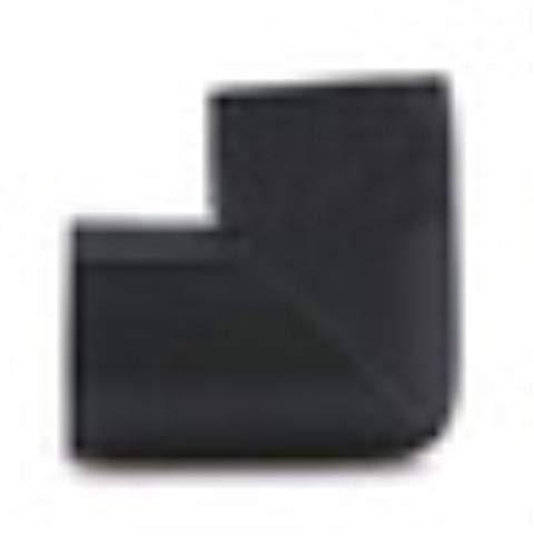 Piero 4-delige U-vormige hoekbeschermer Babyveiligheid Glazen salontafel Hoekbotsing Beschermende kinderen, zwart