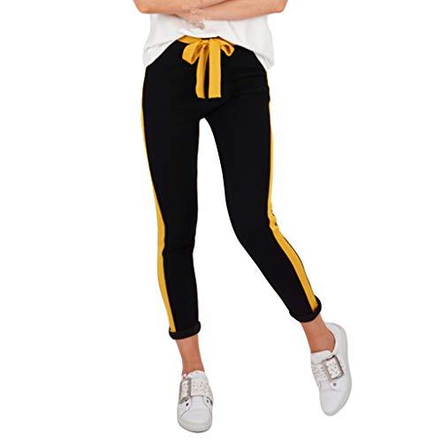 KUKICAT Damen Laufhose Sporthose Sport Leggings Tights Gestreifte, eng anliegende, eng anliegende Hose