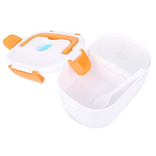 Recipiente Para Alimentos, Fiambrera Bento De Plástico De Alta Calidad Recipiente Para Almuerzo Calefacción Eléctrica Enchufe Europeo 100-240V Para Comida Para Llevar Para Niños Y Adultos(naranja)