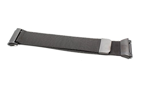 vhbw Ersatz Armband 23.5cm Magnetverschluss passend für Fitbit Ionic Fitness Uhr, Smart Watch - Edelstahl schwarz
