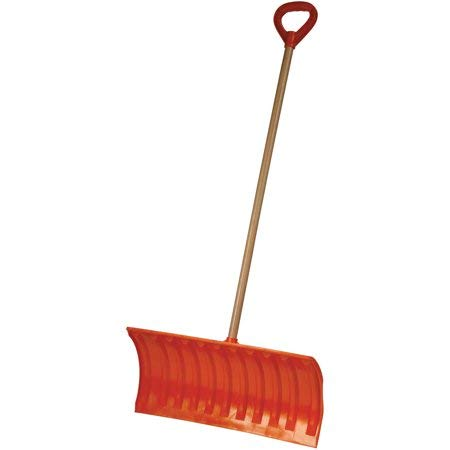 Best Prices! Emsco Bigfoot 25 Poly Pusher Snow Shovel with Wooden Handle, Features a Large D-Grip H...