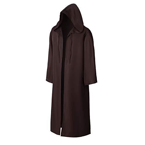 EONPOW Wizard Tunic Hooded Robe Halloween Cloak Cosplay Costumes