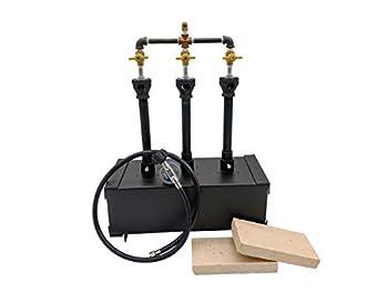 Propane Burner Propane Forge Triple Burner - Portable Blacksmith Forge - Gas Forge for Making Knife and Tool - Propane Furnace Forge Burner