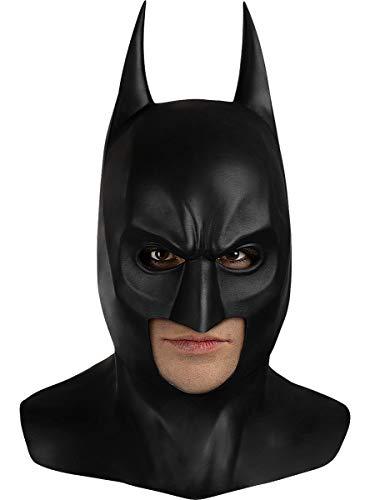 Funidelia   Máscara Batman de látex - El Caballero Oscuro Oficial para Hombre ▶ Caballero Oscuro, Superhéroes, DC Comics, Hombre Murciélago - Color: Negro, Accesorio para Disfraz